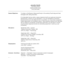 Resume Examples For Psychology Majors Sample Psychology Resume Major Example compliance expert cover letter 41