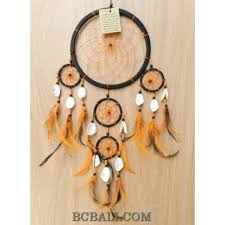 Hawaiian Dream Catcher hawaii style dream catcher sea shells feather five circle handmade 98