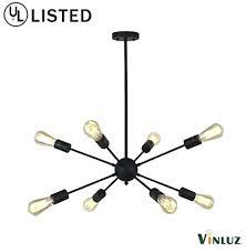 black sputnik chandelier 8 light sputnik chandelier black mid century modern ceiling light industrial pendant lighting