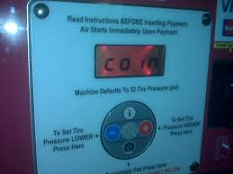 gas station with air pump. but!! gas station with air pump
