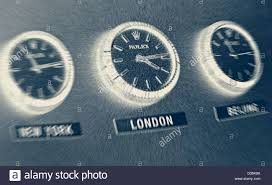office clocks. Three Rolex Office Wall Clocks Showing Time Zones L-R New York, London, Beijing