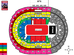 Bts Seating Chart Powerhouse Live Bts Staples Seat Chart Staples Center End