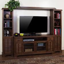 Small Picture Furniture Rustic Gray Brown Pine Entertainment Wall Unit By