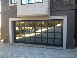 garage doors with windows glass
