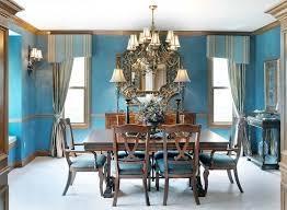 mediterranean dining room furniture. Mediterranean Dining Room With Distinctive Full Artistic Value - Elegant Blue Walls And Furniture
