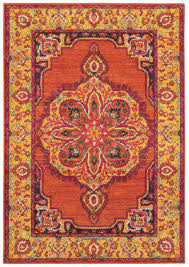 oriental weavers bohemian 3339y orange yellow area rug