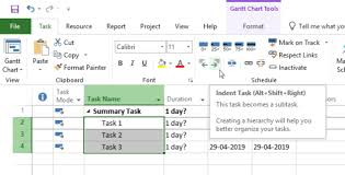 Wbs Chart In Ms Project 2013 Creating A Work Breakdown Structure In Ms Project Pmwares