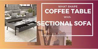 what shape coffee table with sectional