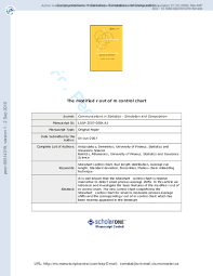 Pdf The Modified R Out Of M Control Chart Demetrios