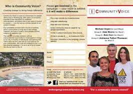 Community Voice For Wollongong Council Ward 1: Election Leaflet Hot ...
