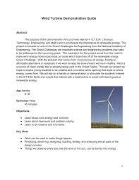 Designing Windmills Wind Turbine Demonstration Guide