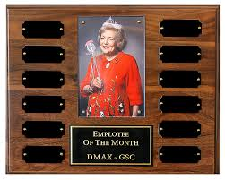 Emploee Of The Month Perpetual Plaque With Logo Or Photo