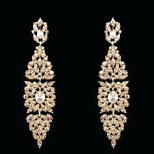 big gold chandelier earrings women punk large long rose long chandelier earrings photo ideas