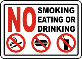 No Smoking Signage No Smoking Eating Or Drinking Sign D5735 By Safetysign Com
