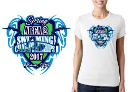 Swim Championship T Shirt Designs 2017 Spring Area 2 Swimming Championships Vector Logo Design