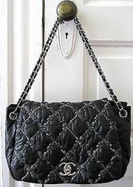 Chanel Black Quilted Lambskin Le Boy Wallet On Chain Woc Bag ... & Chanel Black Bubble Stitched Quilted Nylon Flap Bag Handbag 2 Chains | eBay Adamdwight.com