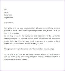 Advertising Proposal Example Sample Business Letter For Services