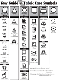 Washing Chart Free Printable A Fabric Laundry Care Symbols Chart At