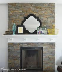 our diy fireplace installing the slate splite face tile