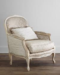 Ladonia Bergere Chair, Parchment/Ivory - Massoud Upholstery reupholster  inspiration DIY