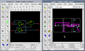 if designers select pins or instances in the schematic window or physical design window the corresponding objects will be shown automatically in the other ic layout designer