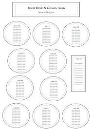 Wedding Chart Seating Template Table Seating Chart Circular Table Chart For Guests Weddings And
