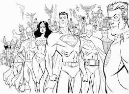 Small Picture Free Printable Coloring Sheet Of Justice League America