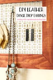 black leather dangle drop earrings inspired by joanna gaines creating with cupcakesandcrinoline