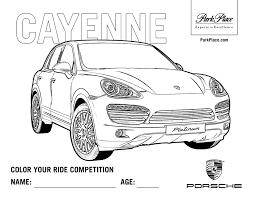 Coloriage De Porsche Cayenne A Imprimer L L L