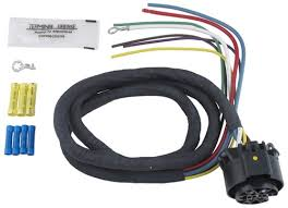 installation of a 7 way trailer connector on a 2016 toyota tacoma Universal Trailer Wiring Harness universal wiring harness for hopkins multi tow vehicle end trailer connectors 4' universal trailer wiring harness kit
