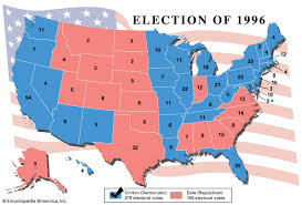 northern states 1800s. bboy 1997 map: united states election 1996. northern 1800s