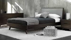 scandinavian design bedroom furniture wooden. stunning scandinavian bedroom furniture consist of dark wooden bed frame and 2 drawers nightstand also design s