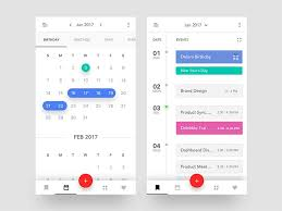 Calendar Sample Design Adorable Stunning Examples Of Calendar Mobile App Design 48stWebDesigner