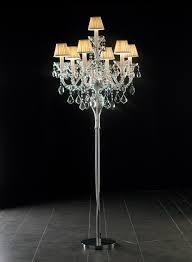 floor standing crystal chandelier 3d model