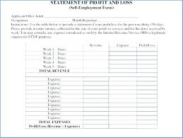 profit and loss form simple profit and loss account template excel