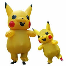 ADULT MASCOT <b>PIKACHU Inflatable Halloween</b> Cosplay <b>Costume</b> ...
