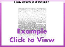 Afforestation essay