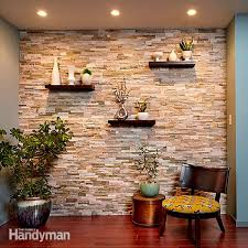 cover a wall with stone veneer and transform a room