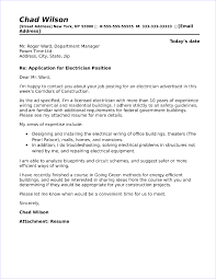 Sample Electrical Technician Cover Letter Electrician Cover Letter Sample