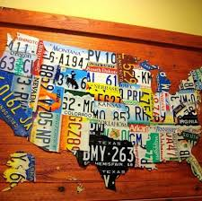 diy license plate map of usa crafts looking pretty on the wall on license plate map wall art with diy license plate map of usa hometalk