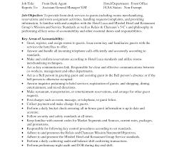 impressive front desk resume template hotel objective manager examples clerk skills agent job size 1920