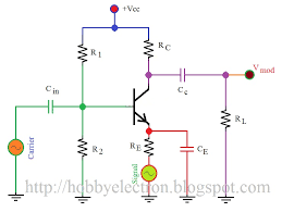hobby in electronics transistor am modulator circuit diagram transistor am modulator circuit diagram