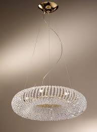 carla gold 5 light crystal ceiling light pendant kolarz lighting