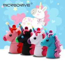 Unicorn Silicone <b>USB Flash Drive</b> 32GB 64GB Pendrive <b>16GB</b> 8GB ...