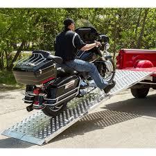 8' Long Big Boy EZ Rizer Aluminum 2-Piece Folding Motorcycle Ramp ...