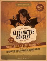 Concert Flyer Templates Free 33 Amazing Gig Poster Flyer Templates Vandelay Design