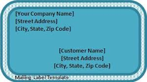 address label template free shipping label template word