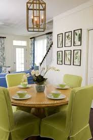 dining room chair slipcovers can be a way to bring color into the room