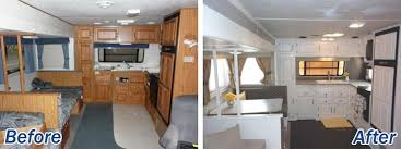 Travel trailers interior Surveyor Rv Interior Decor Kitchen Doityourselfrv 16 Year Old Jayco Travel Trailer Gets Interior Decor Makeover