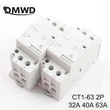 CT1 63 <b>32A 40A 63A 2P</b> 220V/230V 50/60HZ Din rail Household ac ...